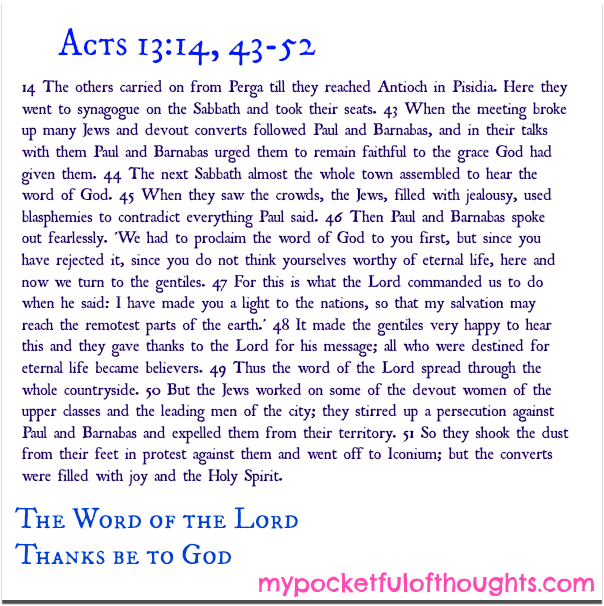 Acts 13:14; 43-52