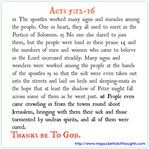Acts 5: 12-16