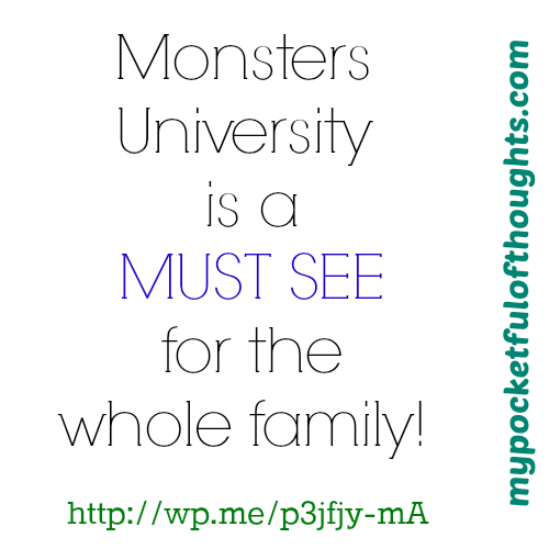 monsters university must see