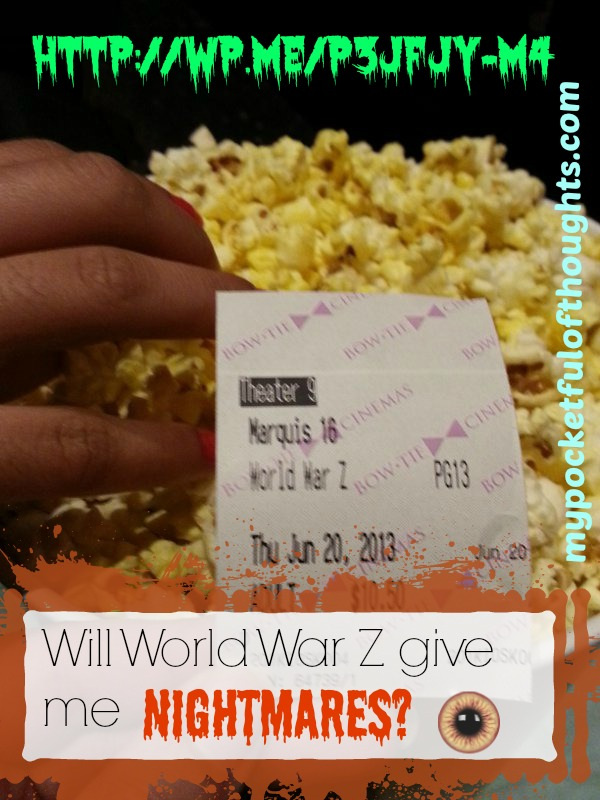 Will World War Z give me nightmares?