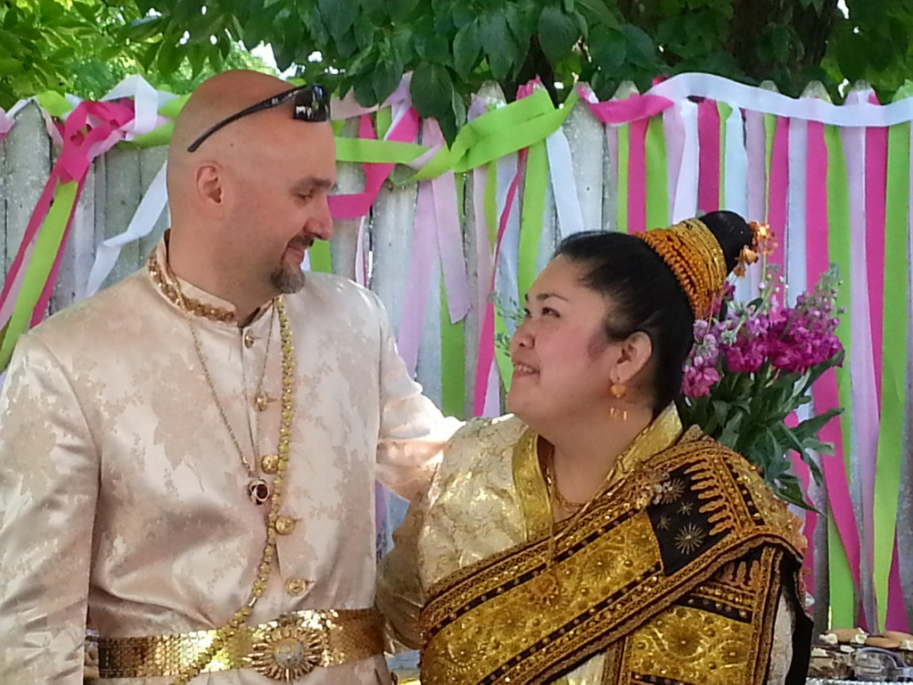 Cultural Laotian Wedding Photo