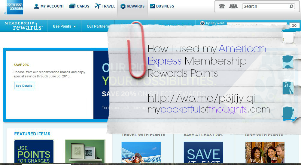 How I used my American Express Membership Rewards