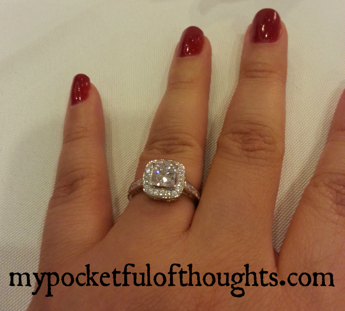 I'm #engaged. He #proposed. I said yes. I'm getting #married. He put a #ring  on it!