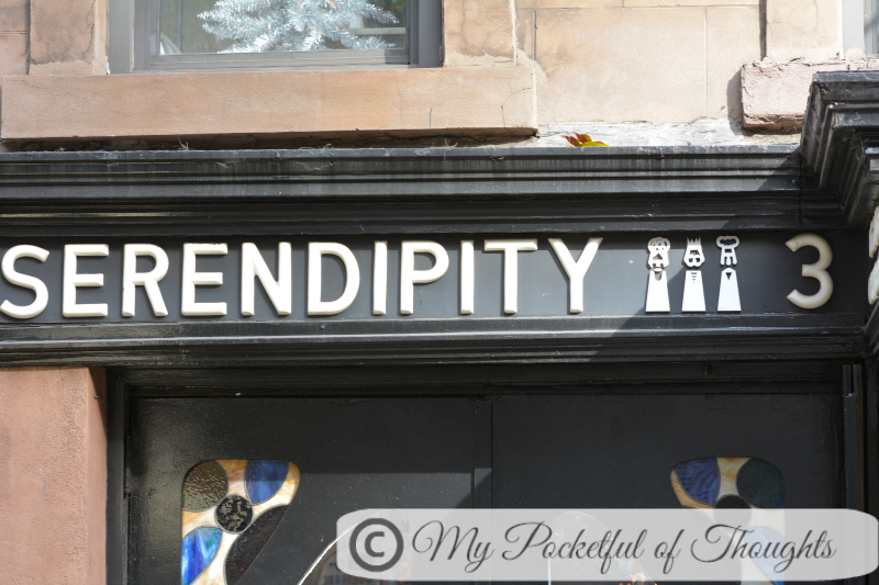 the day of our proposal - we went to have lunch at serendipity