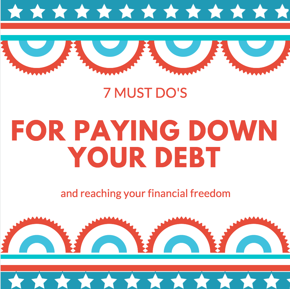 7 Must Do's For Paying Down Your Debt - Part of a Money Series on My Pocketful of Thoughts