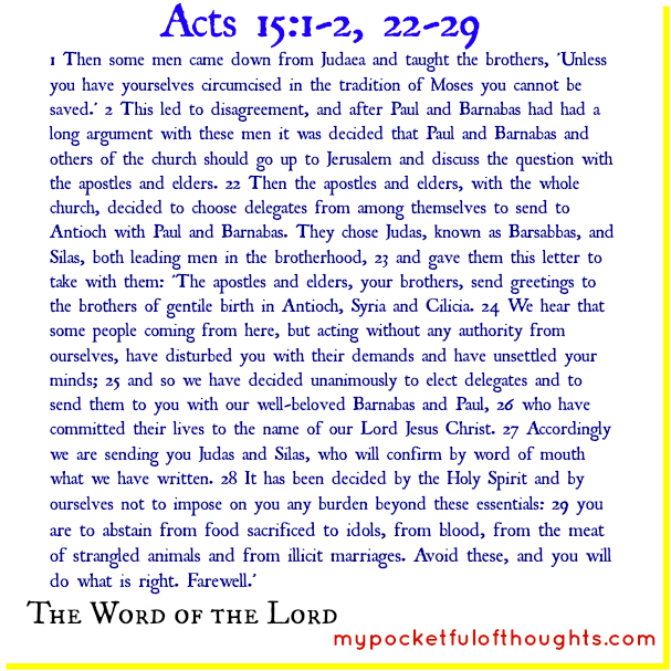 Acts 15:1-2, 22-29