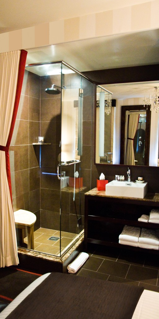 The Bathroom in the Room of The Sanctuary Hotel - Times Square