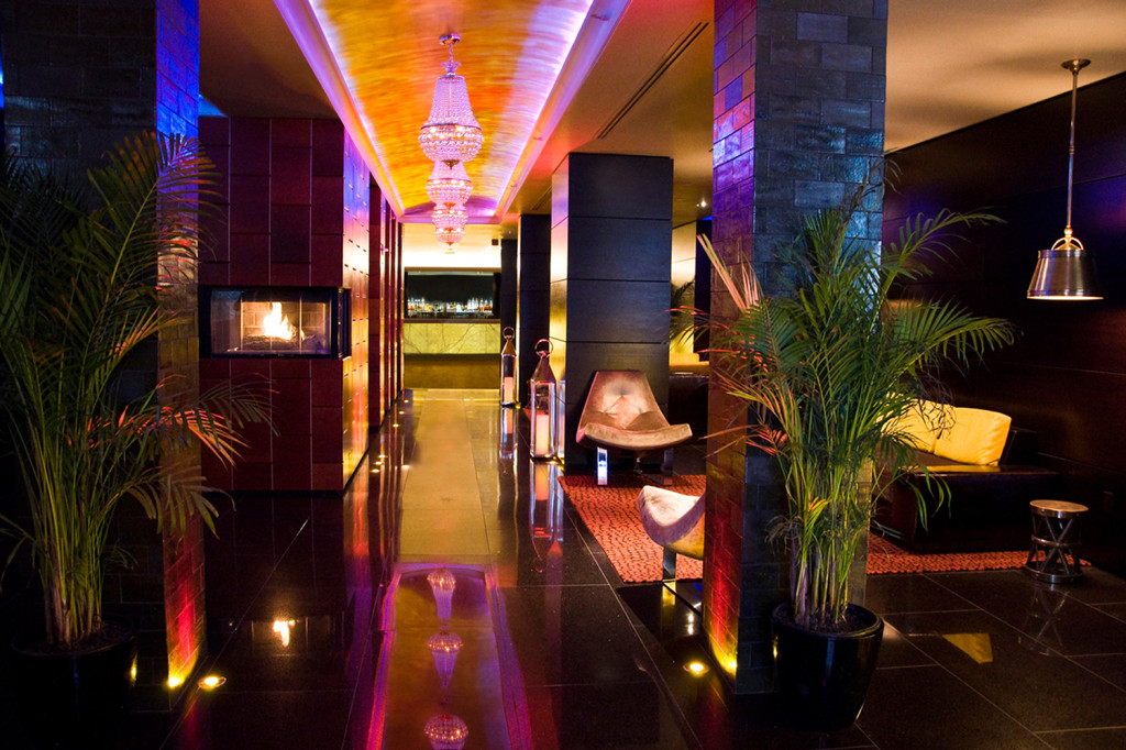 The lobby at the Sanctuary Hotel - Times Square
