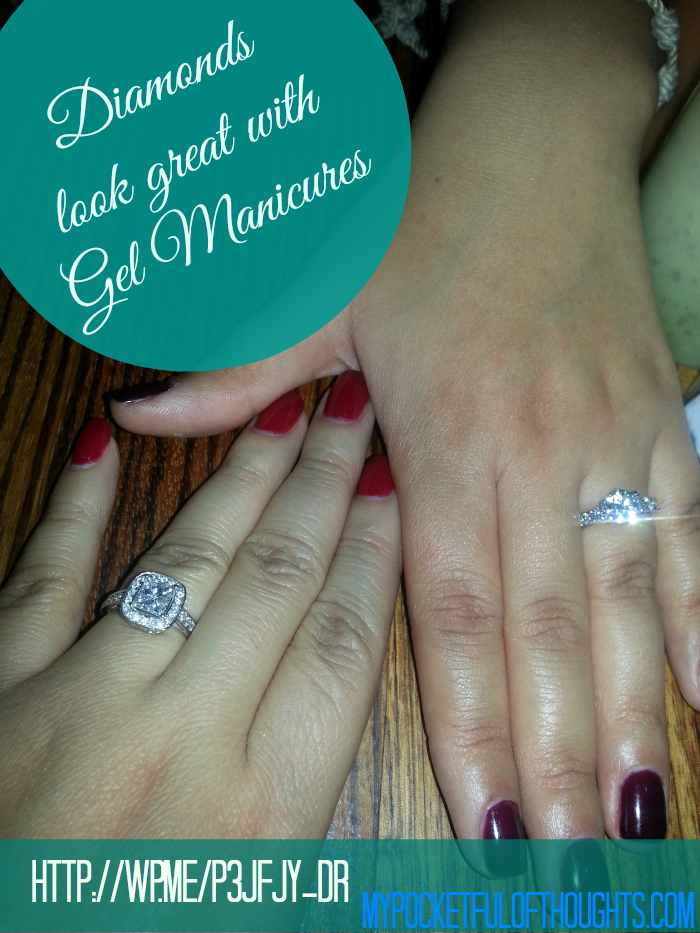 diamond rings look great with gel manicures