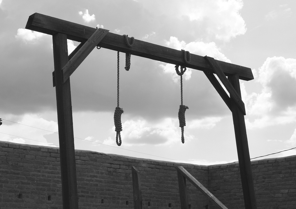 Photo of the Gallows; Image used on My Pocketful of Thoughts as a summary of questions on Genesis 9 bringing up the death penalty. Part of the Let's Read the Bible Series.