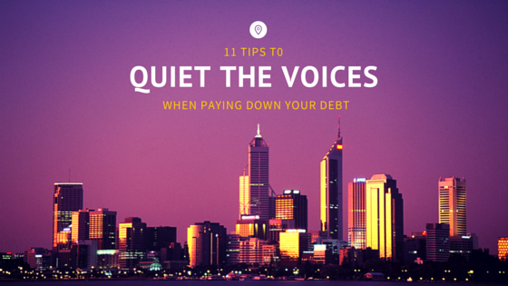 11 tips to quiet the voices when paying down your debt! by Arelis CIntron Dias on My Pocketful of Thoughts