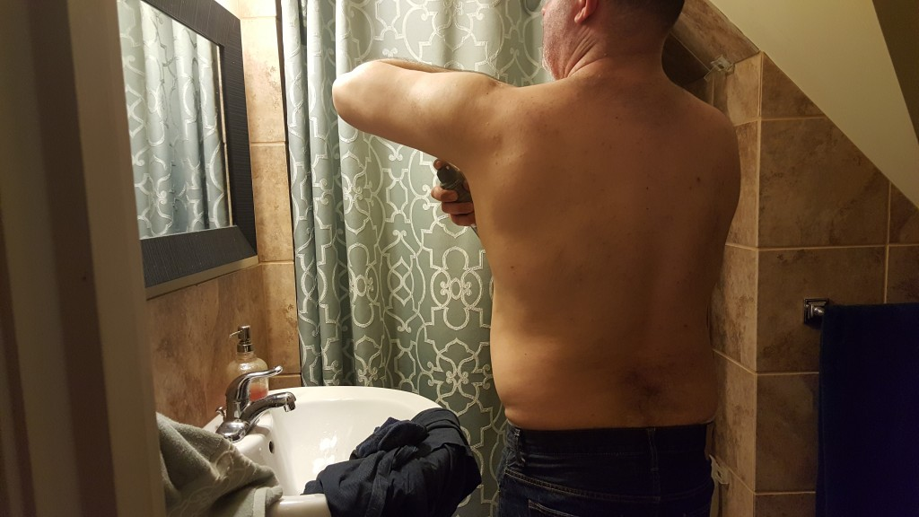 I love watching my husband getting ready in the bathroom. #Target #TryDry